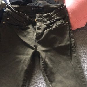 Zara basic Dark green jeans